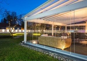 Безрамное остекление террасы | Elip Panorama